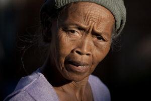 portrait d'une femme en Indonésie